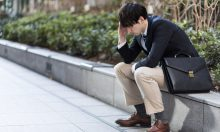 depressed young man portrait